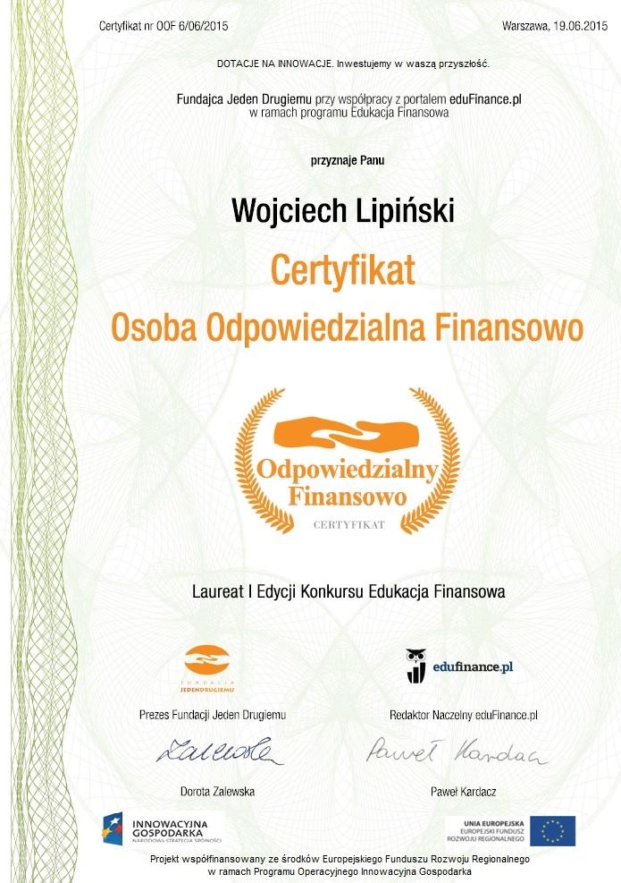 Certyfikat Odpowiedzialny Finansowo